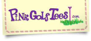 Pink Golf Tees Logo